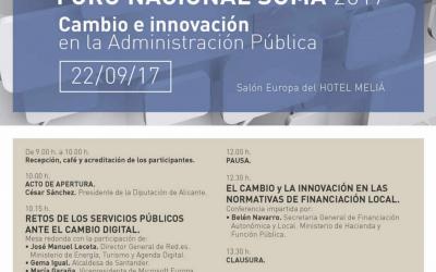 (Español) Suma celebra su XV Foro Nacional sobre cambio e innovación
