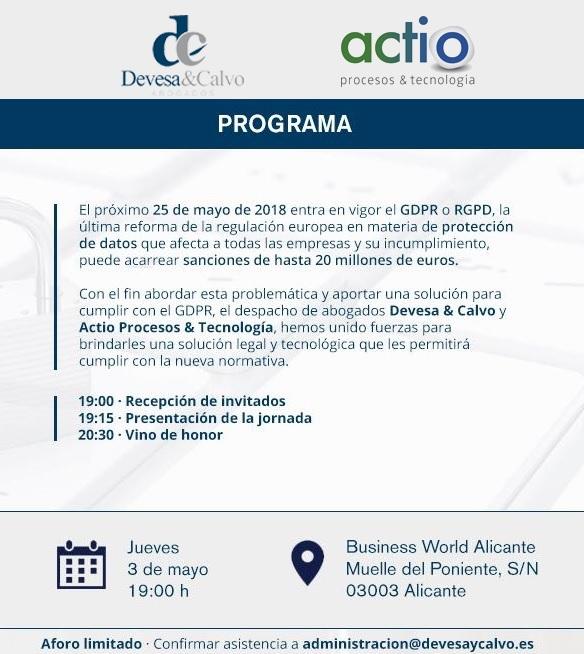 jornada RGPD 3 de mayo Alicante