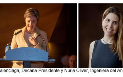 Nuria Oliver, Ingeniera del año 2018 por el COI