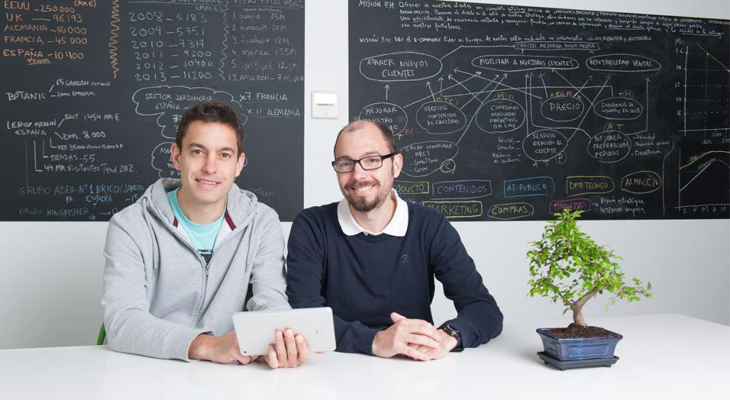 Alfonso y Pablo Sánchez, fundadores Planeta Huerto