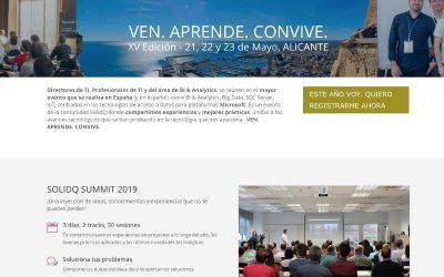 Evento SolidQ Summit 2019 en Alicante