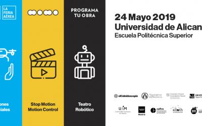 Los drones sociales, los cortos de animación y con robots humanoides llegan a la Universidad de Alicante dentro de un gran evento educativo