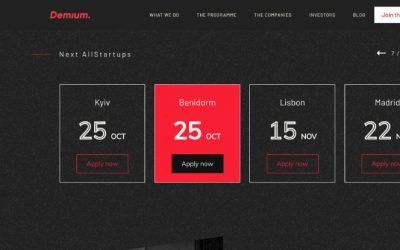 La sede de Demium en Benidorm organiza durante los días 25 a 27 de octubre de 2019 su primer Allstartups