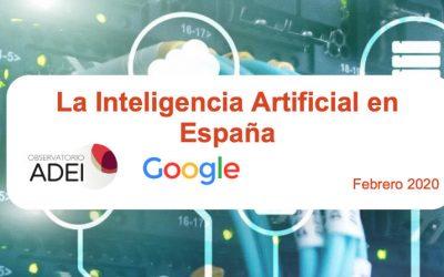 La Inteligencia Artificial en España – observatorio ADEI