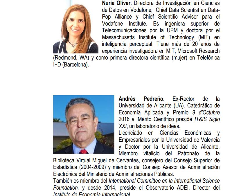 Andrés Pedreño y Nuria Oliver, miembros del Grupo de Sabios sobre IA y Big Data