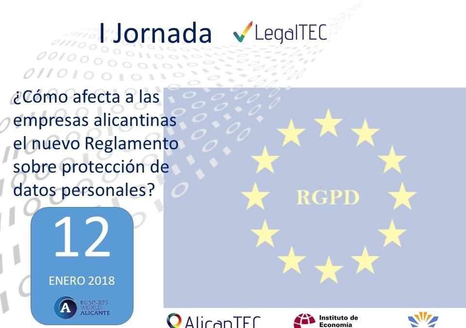 Jornada AlicanTEC nuevo reglamento protección de datos