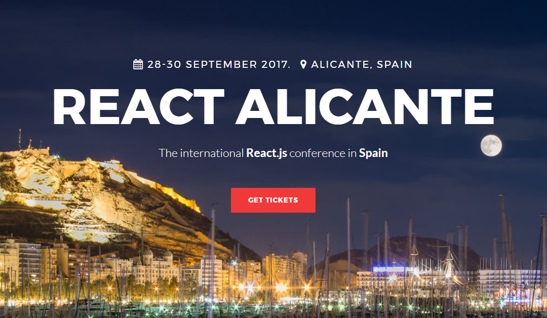 React Alicante, la conferencia internacional sobre React y React Native